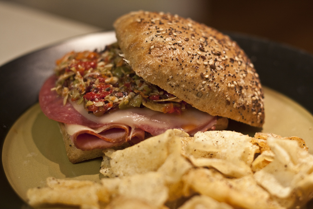Muffaletta Sandwiches with Homemade Olive Tapenade | deathcabforfoodie